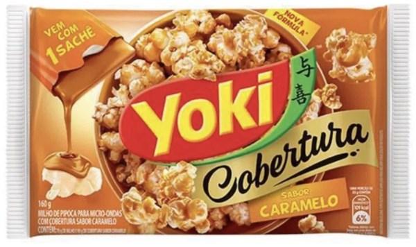 foto Pipoca microondas caramelo Yoki 100g