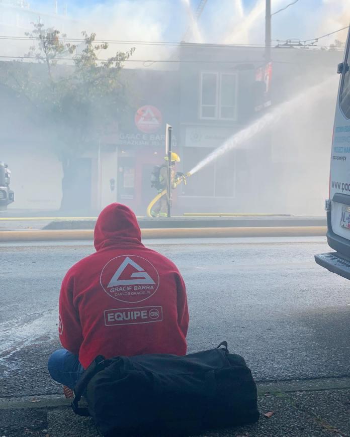 Incêndio atinge filial da Gracie Barra em Vancouver