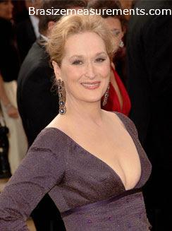 Meryl Streep Bra Size