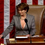 Which is the breast size of Nancy Pelosi?
