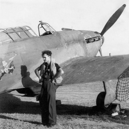 """""""Oh, Mickey..."""" - ace Constantin Pomuţ, from the 53rd Independent Squadron. These guys were kicking Soviet ass over the Black Sea on Hawker Hurricanes painted with Mickey Mouse."""