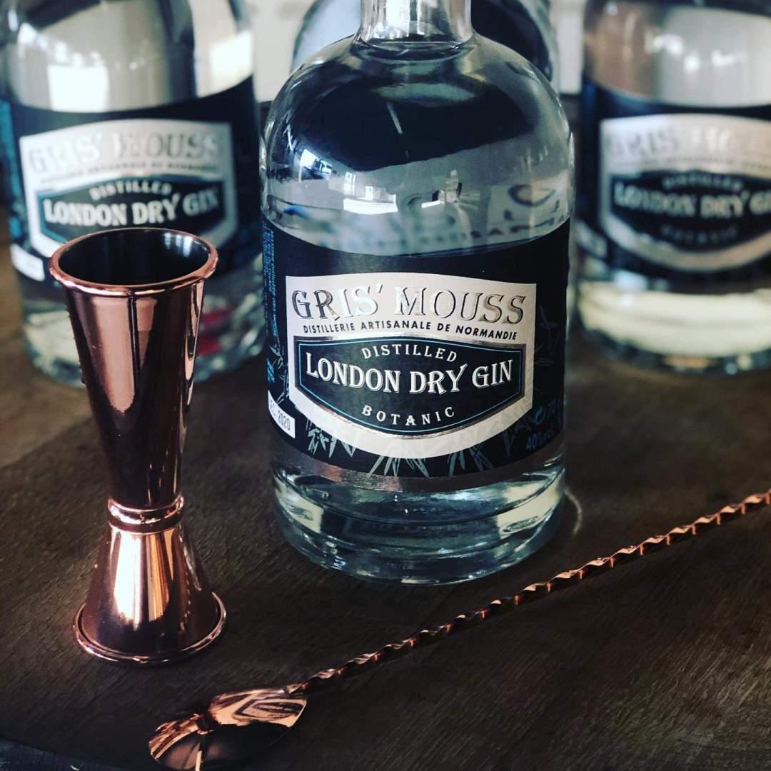 Brasserie gris'mouss gin normandie