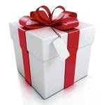 Illustration paquet cadeau à ruban rouge fiche de brassage gratuite pour brasseurs motivés