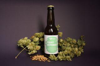 Fruit défendu IPA Photo étiquettes bière avec malt et houblon - Micro-Brasserie du Vallon