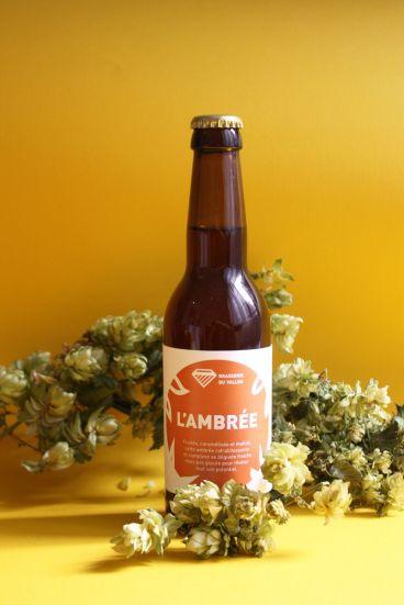 L'ambrée avec houblon - Photo étiquettes bière artisanale - Micro-Brasserie du Vallon