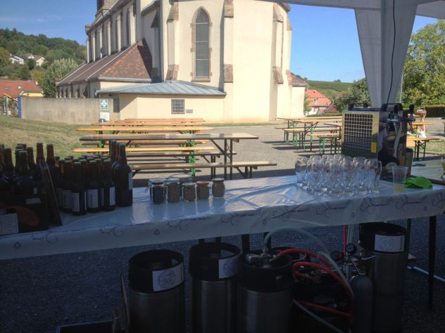 Stand et place du village Steinbach événement 2018 Brasserie du Vallon
