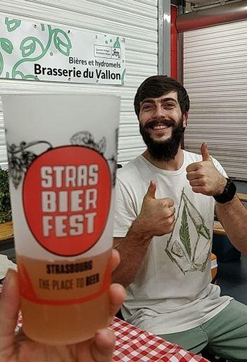 StrasBier Fest 2018, joie et bonheur autour d'un verre - apéro avec le brasseur - stand de la Brasserie du Vallon