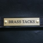 Brass Nameplate (Straight)