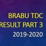 BRABU TDC Part 3 Result