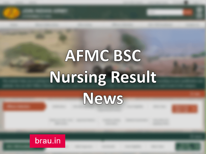 AFMC BSC Nursing Result 2020 Merit List