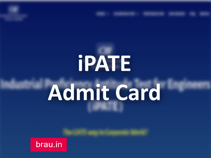 iPATE Admit Card