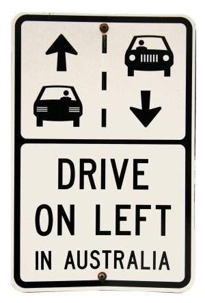 dirigir na Austrália e nova Zelândia