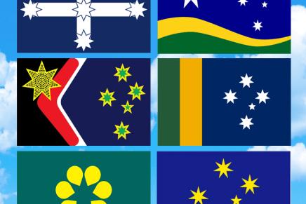 Australianos são sendo convidados a votar em uma nova Bandeira Nacional…. (qual é a sua favorita?)