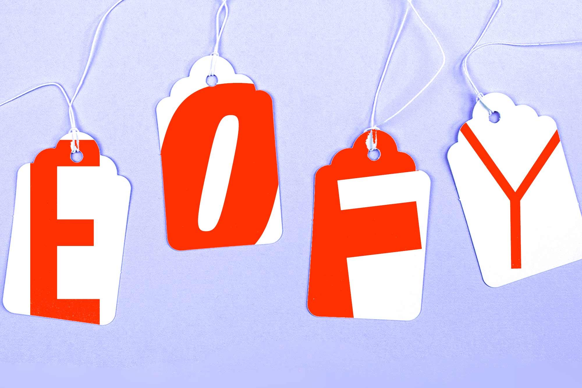 Ofertas deEOFY para compras no exterior