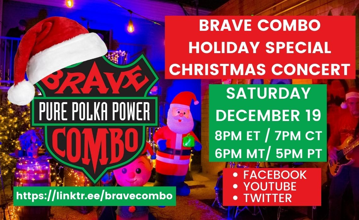 BRAVE COMBO HOLIDAY STREAMING CONCERT
