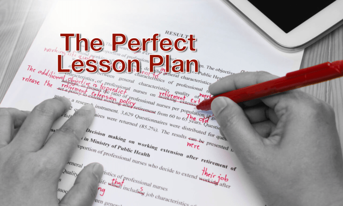 The Perfect Lesson Plan