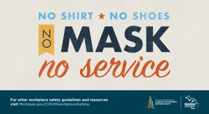 No Shirt, No Shoes, No Mask!' No Service