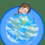 Sean hugging the earth