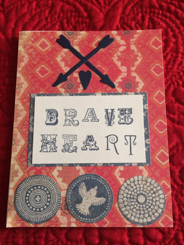 Bohemian Handmade Valentine's Day cards-Brave Heart