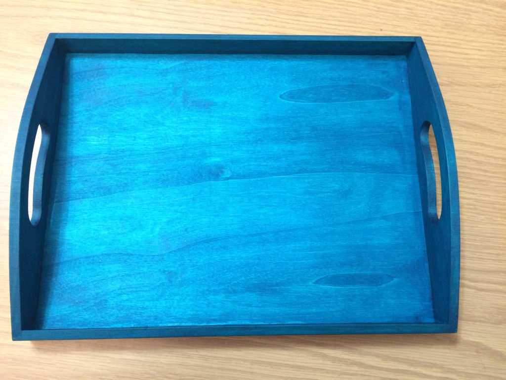 Turquoise stained Boho Tray