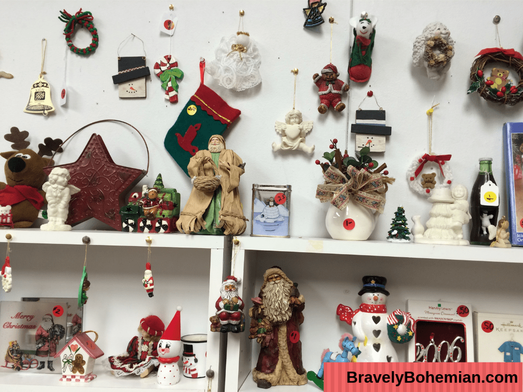 Thrift Shopping for Vintage Christmas ornaments