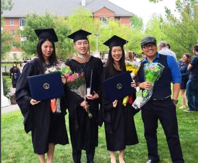 The four of us are all part of the Kendall Square Chinese Branch. Glad to have graduated with these beautiful people.