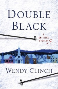 book cover wendy clinch's double black a ski diva mystery