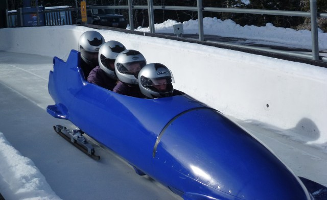 Utah olympic park bobsled run