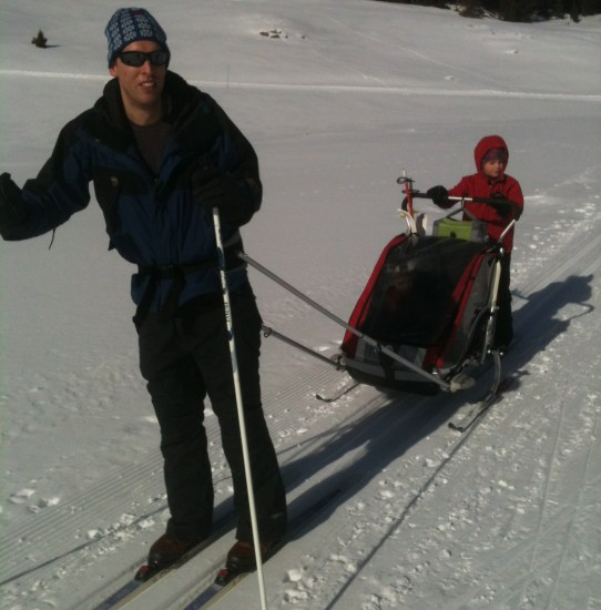 cross country ski with baby