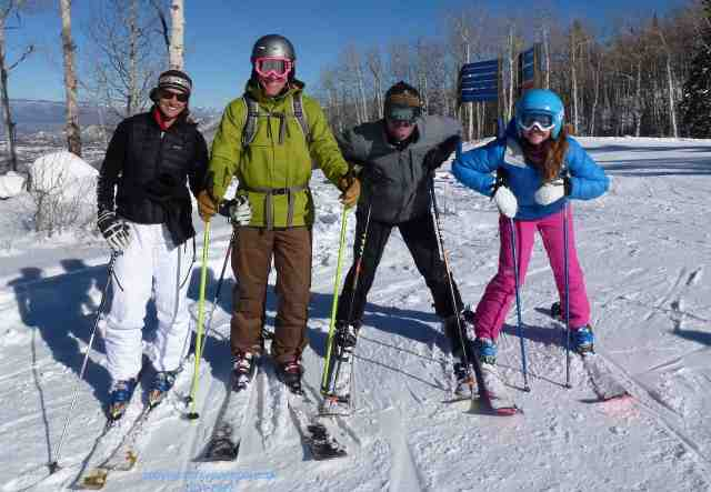 ski with friends powderhorn colorado