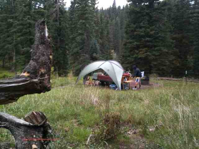 camping in rain cimarron mountains colorado