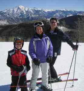 ski vacation with richard crested butte