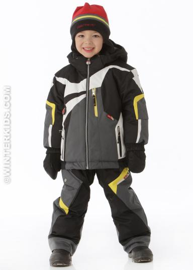 Obermeyer boys super g jacket black winterkids.com