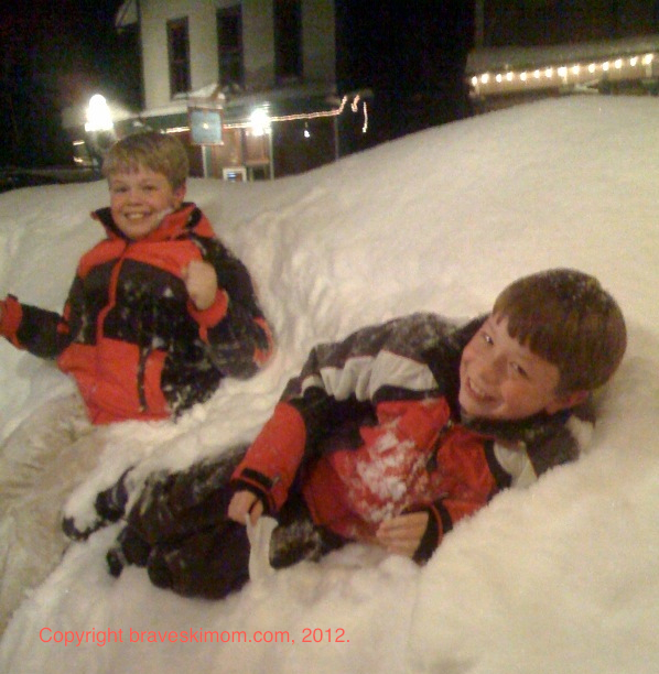 deep snow christmas in crested butte