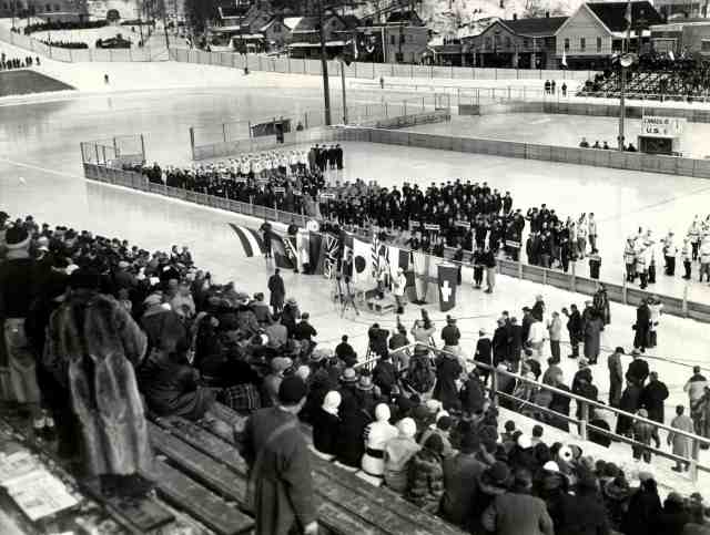 1932 Lake Placid Olympic Opening Ceremony  © ORDA