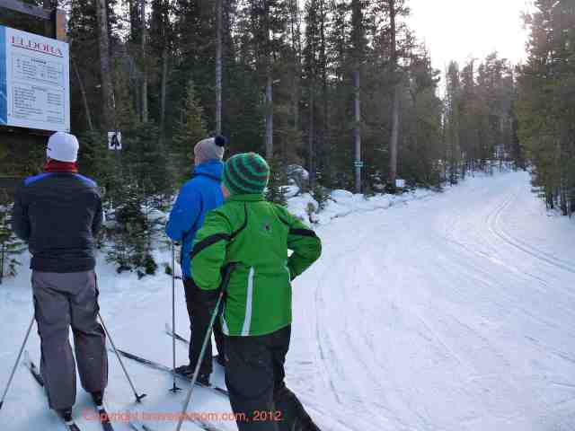 checking the eldora cross country ski map