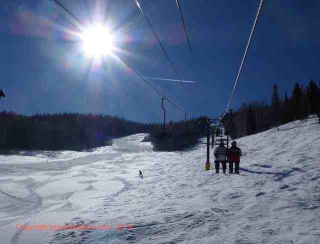 sunlight frontside of mountain