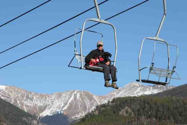 kenya and sy on chairlift at keystone