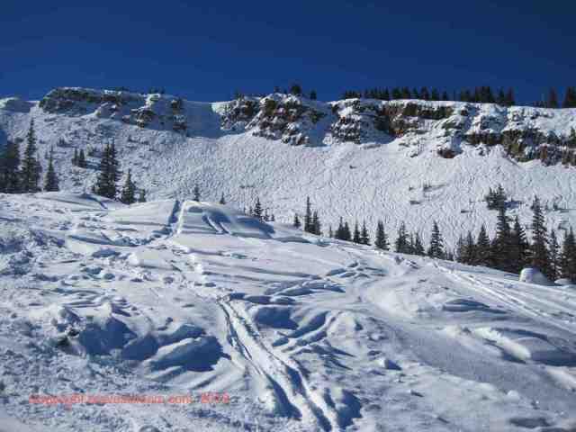 snowmass hanging valley headwall