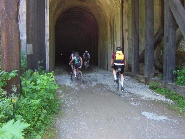 route of the hiawatha bike tunnel