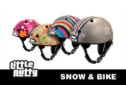 little nutty snow and bike helmets