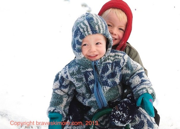boys in snow clothes