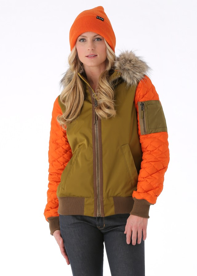 Burton LAMB Bomber Jacket Orange