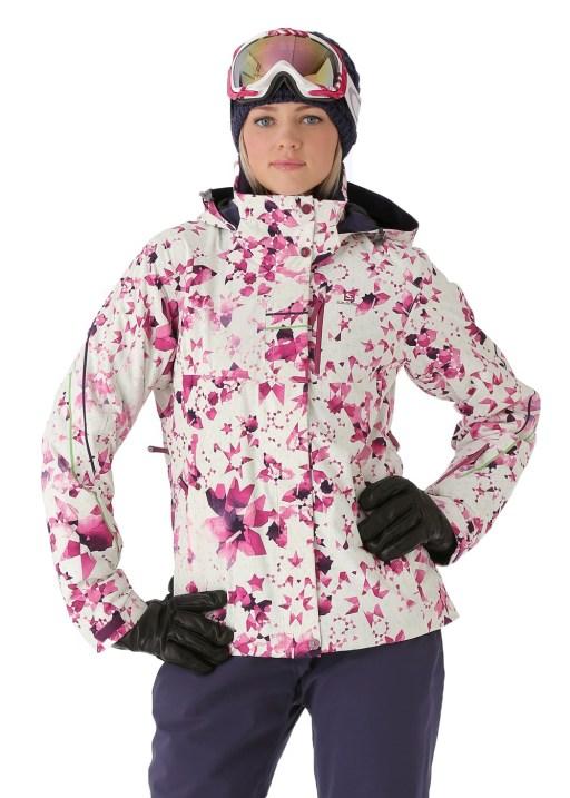 Salomon Women's Brilliant Jacket in White/Wild Berry