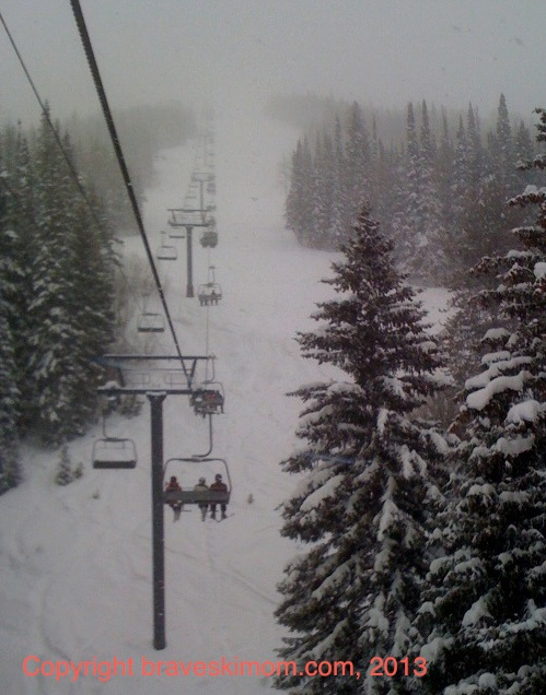 snowy steamboat