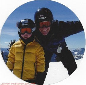 dad and son ski day