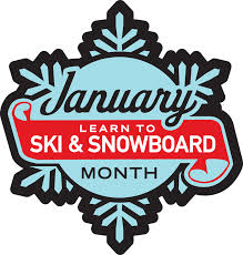 learn to ski and snowboard month