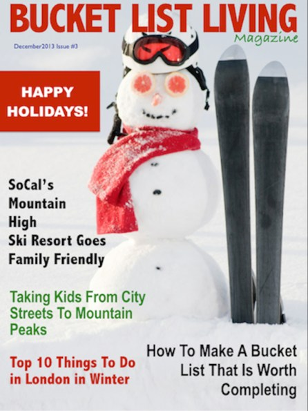 bucket list living magazine december 2013