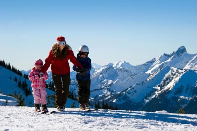 learn to ski crystal mountain washington