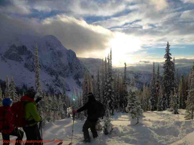 This is why you want to heli ski. The beautiful Selkirk Mountains.